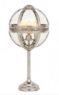 Casa Padrino Barock Tischleuchte vernickelt Kugel Silber Durchmesser 30 cm, Höhe 61 cm - Barock Schloss Lampe Leuchte Laterne - Vorschau 1