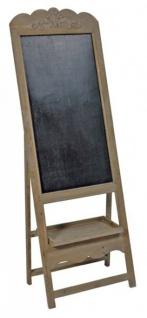 Casa Padrino Barock Gastronomie Restaurant Tafel mit Ständer, Schreibtafel aus Holz, Antik-Look, braun Gastro Holztafel