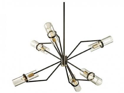 Casa Padrino Luxus Kronleuchter Bronze / Messing Ø 91, 4 x H. 55, 3 cm - Designer Wohnzimmer Kronleuchter - Luxus Qualität