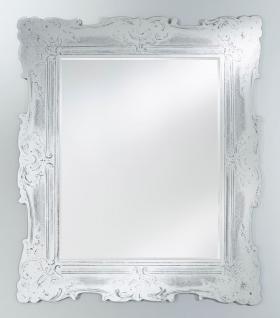 Casa Padrino Barock Spiegel Antik Weiß 106 x H. 125 cm - Edel & Prunkvoll