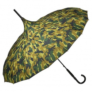 MySchirm Designer Regenschirm Pagode camouflage Model Paris - Jugendstil Design - Eleganter Stockschirm