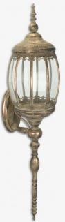 Casa Padrino Jugendstil Wandlaterne Antik Messing 24, 2 x 28 x H. 105, 5 cm - Antik Stil Wandkerzenleuchter - Barock & Jugendstil Deko Accessoires