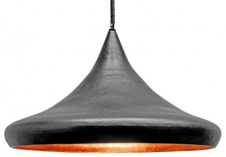 Casa Padrino Luxus Hängeleuchte Grau Ø 70 x H. 45 cm - Moderne Pendelleuchte im Industrie Design