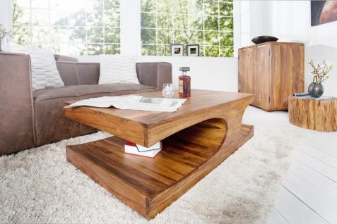 Casa Padrino Designer Massivholz Couchtisch Natur B120 x H40 x T70 cm - Salon Wohnzimmer Tisch - Vorschau 3