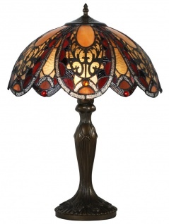 Casa Padrino Tiffany Tischleuchte Bronze / Mehrfarbig Ø 40, 5 x H. 59 cm - Luxus Leuchte - Vorschau
