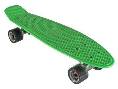 Oldschool Skateboard Plastic Cruiser 70s Style Green / Black Plastik Skateboard - Vinyl Skateboard Cruiser Longboard