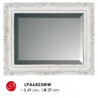 Casa Padrino Barock Wandspiegel Antik Weiß H 49 cm B 39 cm - Edel & Prunkvoll - Spiegel Antikstil