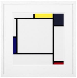 Casa Padrino Designer Deko Bilder 2er Set Mehrfarbig / Weiß 75 x H. 75 cm - Luxus Kunstdrucke - Vorschau 4
