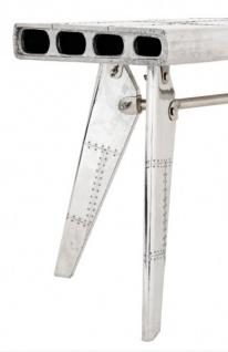 Casa Padrino Luxus Designer Schreibtisch Aircraft Wing Aluminium Flugzeug  Flügel Art Deco Vintage   Vorschau 4