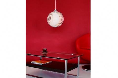 Designer Pendelleuchte mit flexiblen und verstellbaren Kunststoff-Streifen, Weiss, Leuchte Lampe