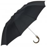 Jean Paul Gaultier Luxus Designer halbautomatischer Regenschirm aus 10 Segmenten, Schwarz