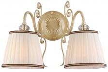 Casa Padrino Barockstil Kristall Wandleuchte Creme-Gold / Weiß 39 x 27 x H. 28 cm - Barock Wandlampe
