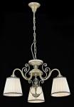 Casa Padrino Barock Decken Kristall Kronleuchter Weiß Gold 58 x H 39 cm Antik Stil - Möbel Lüster Leuchter Hängeleuchte Hängelampe