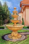 Casa Padrino Barock Springbrunnen Ø 160 x H. 250 cm - Verschiedene Farben - 4-Stufiger Gartenbrunnen im Barockstil