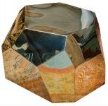 Casa Padrino Designer Wohnzimmertisch / Beistelltisch Gold 89 x 90 x H. 45 cm - Designer Kollektion