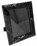 Casa Padrino Luxus Marmor Bilderrahmen Schwarz 20 x 4 x H. 25 cm - Deko Accessoires