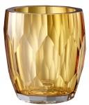 Casa Padrino Luxus Deko Glas Vase Gelb Ø 12 x H. 14 cm - Luxus Qualität