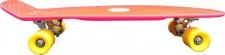 Koston Oldschool Skateboard Plastic Cruiser 70s Style Red/Yellow Medium Size - 27.0 x 7.5 inch - Plastik Vinyl Skateboard