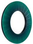 Casa Padrino Luxus Wandspiegel Grün Durchmesser 110 cm - Designer Spiegel