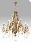 Casa Padrino Luxus Barock Kronleuchter mit echten Glaskristallen Gold Antik-Look, 10 Flammiger Lüster, Durchmesser 90 cm - feinste Qualität