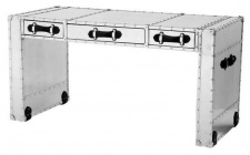 Casa Padrino Luxus Schreibtisch mit 3 Schubladen 150 x 72 x H. 76 cm - Wohnzimmer Büro Möbel