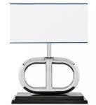 Casa Padrino Luxus Tischleuchte Nickel Durchmesser 39 x 40 x H 50 cm - Luxus Leuchte