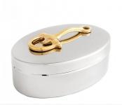 Wunderschöne Luxus Beauté Box aus vernickeltem Metall H 7, 5 cm, B 18 cm, T 11, 5 cm Luxus Qualität - Schmuckkasten - Schmuckkästchen - Schmuckschatulle