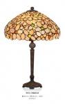 Handgefertigte Tiffany Hockerleuchte Tischleuchte Höhe 48 cm, Durchmesser 30 cm - Leuchte Lampe
