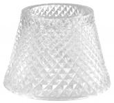 Casa Padrino Glas Teelichthalter-Lampenschirm Clear Ø 15 x H. 12, 5 cm - Luxus Accessoires