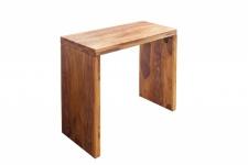 Casa Padrino Designer Schreibtisch Massivholz 100cm - Sekretär Konsole