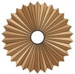 Casa Padrino Designer Spiegel / Wandspiegel Bernsteinfarben Ø 100, 5 - Luxus Möbel