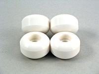 Skateboard Rollen Set 58mm Blank Wheels Weiß (4 Rollen)