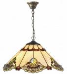 Casa Padrino Luxus Tiffany Hängeleuchte Mehrfarbig Ø 40 x H. 93 cm - Handgefertigte Pendelleuchte aus 264 Teilen