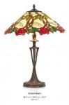 Handgefertigte Tiffany Hockerleuchte Tischleuchte Höhe 60 cm, Durchmesser 40 cm - Leuchte Lampe