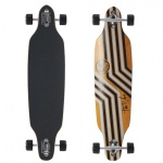 Wave Longboard Drop Through Komplettboard Cruiser Reverso Orange mit Koston Kugellagern