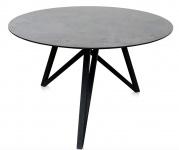 Casa Padrino Luxus Esstisch mit mineralbeschichteter Tischplatte 120 x H. 76 cm - Designer Esszimmermöbel