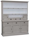 Casa Padrino Landhausstil Küchenschrank Grau / Weiß 178 x 50 x H. 210 cm - 2 Teiliger Küchenschrank mit 5 Türen und 6 Schubladen