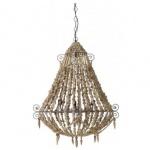 Casa Padrino Hängeleuchte Deckenleuchte Braun Durchmesser 81 x H 102 cm - Möbel Lüster Leuchter Deckenleuchte Deckenlampe