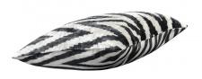 Casa Padrino Luxus Kissen Schwarz / Weiß 40 x 40 cm - Wohnzimmer Deko Accessoires