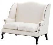 Casa Padrino Designer Sofa Weiß 144 x 80 x H. 150 cm - Luxus Hoteleinrichtung