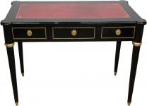 Casa Padrino Barock Schreibtisch Schwarz / Gold / Bordeaux Sekretär Luxus Möbel