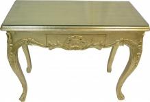 Casa Padrino Barock Konsolentisch Gold mit Schubladen Damen Schminktisch - Antik Stil - Barock Möbel