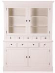 Casa Padrino Landhausstil Wandschrank Antik Weiß 155 x 46 x H. 280 cm - Landhausstil Möbel