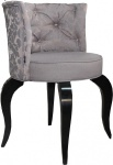 Casa Padrino Barock Salon Stuhl Braun Muster / Schwarz - Designer Sessel - Luxus Qualität