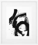 Casa Padrino Luxus Bild Design I Schwarz / Weiß 85 x H. 100 cm - Kunstdruck mit Holzrahmen