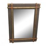 Casa Padrino Luxus Art - Deco Wandspiegel Oliv 90 x H. 120 cm - Luxus Kollektion