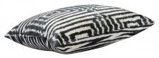 Casa Padrino Luxus Kissen Mod2 Schwarz / Weiß 40 x 40 cm - Wohnzimmer Deko Accessoires