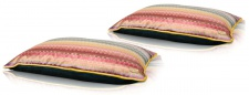 Casa Padrino Wohnzimmer Deko Kissen 2er Set Mehrfarbig 60 x 40 cm - Luxus Kollektion