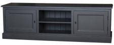Casa Padrino Landhausstil Sideboard Schwarz 180 x 46 x H. 56 cm - Landhausstil Fernsehschrank