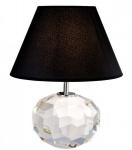 Casa Padrino Luxus Kristallglas Tischleuchte Durchmesser 20 x 35 x H 45 cm - Luxus Leuchte